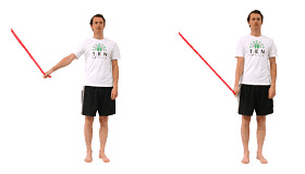 Recover the shoulder with simple stability exercises with a band