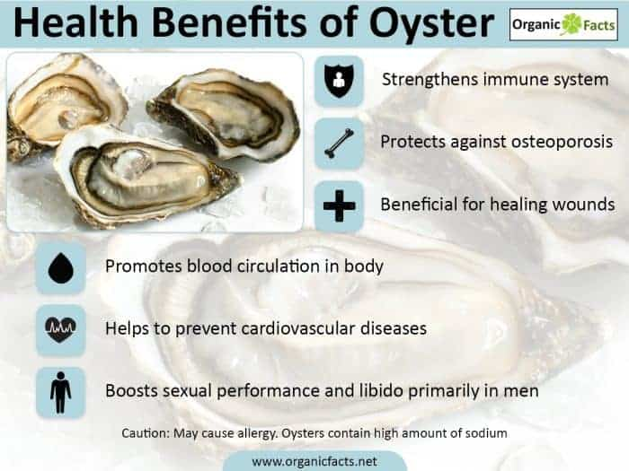 Oysters Health Benefits - Zinc