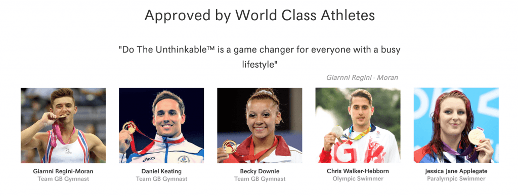 Do The Unthinkable is approved by UK World Class Athletes