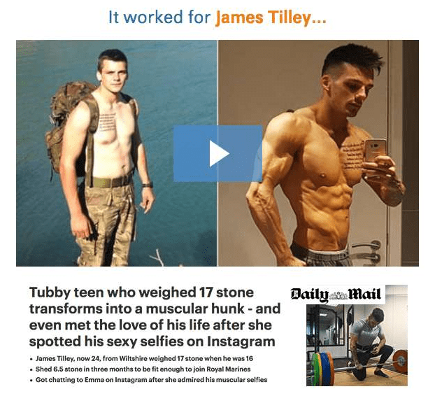 James Tilley transformed his body and his life completely with Do The Unthinkable